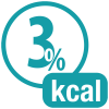 3% kcal